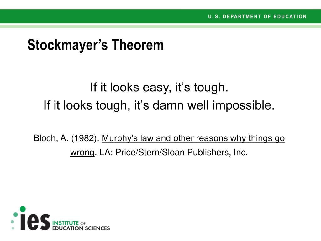 Stockmayer's Theorem