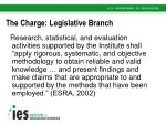 the charge legislative branch