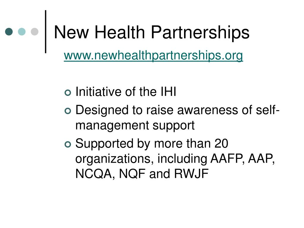 New Health Partnerships