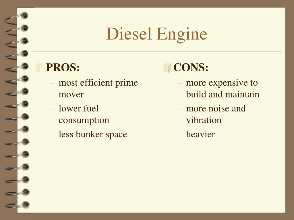 Ppt ship propulsion powerpoint presentation id 659548 - Diesel generators pros and cons ...