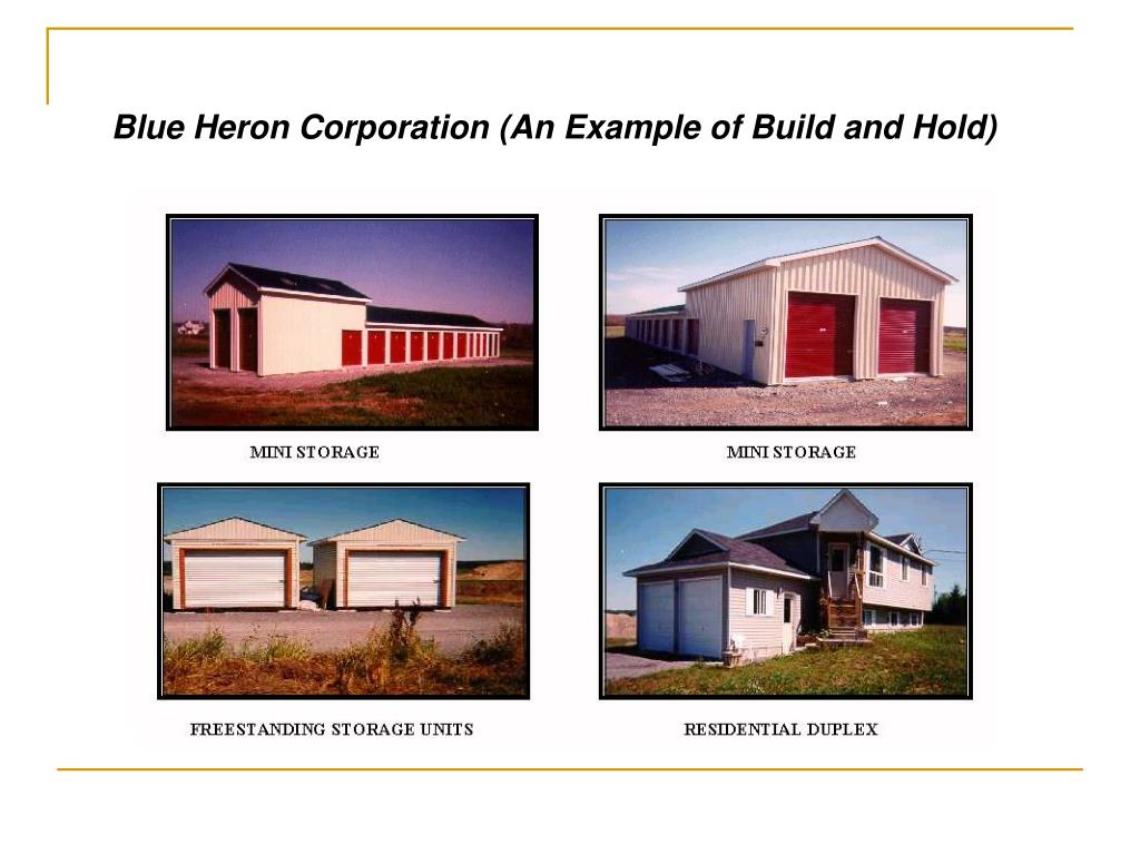 Blue Heron Corporation (An Example of Build and Hold)