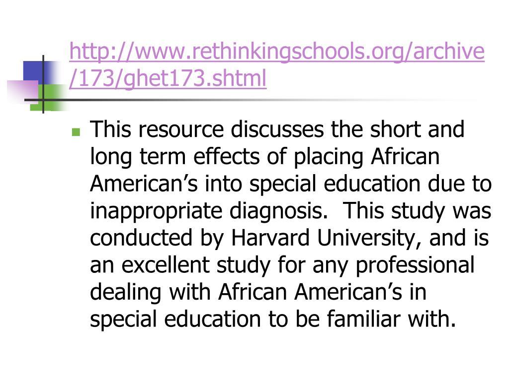 http://www.rethinkingschools.org/archive/173/ghet173.shtml