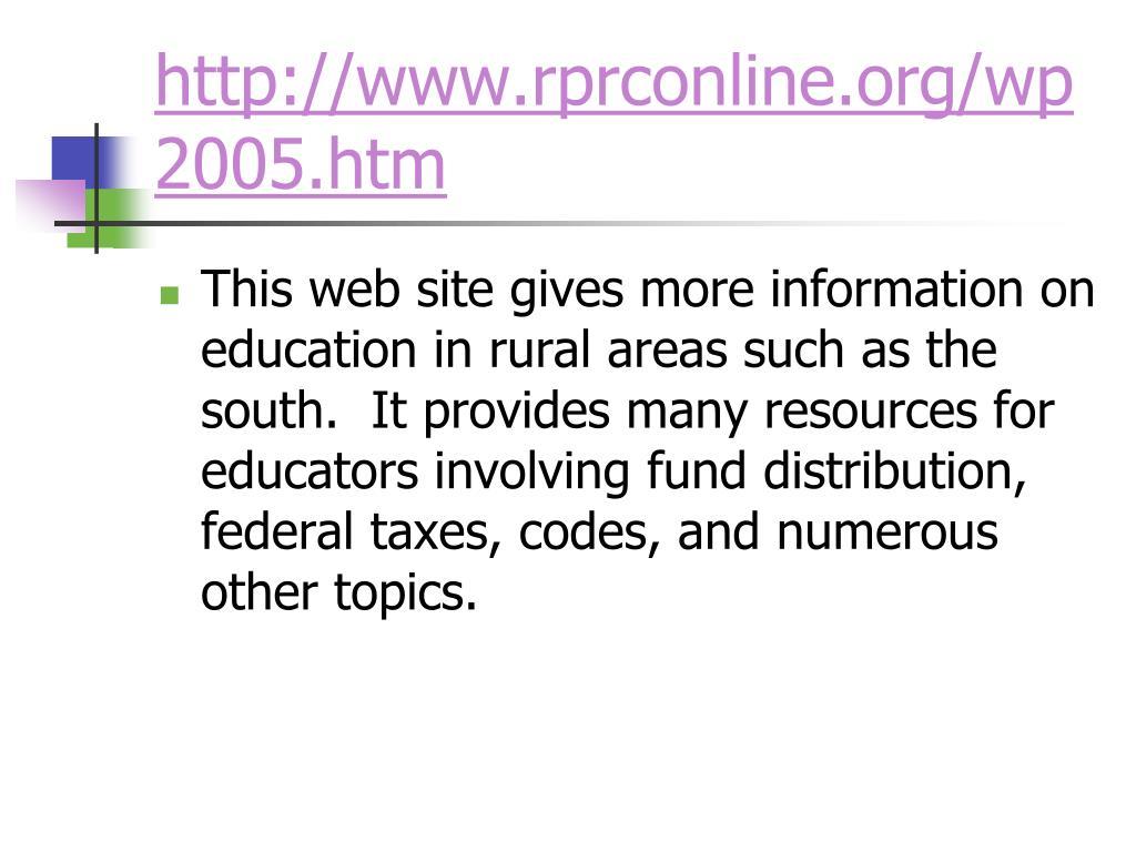 http://www.rprconline.org/wp2005.htm