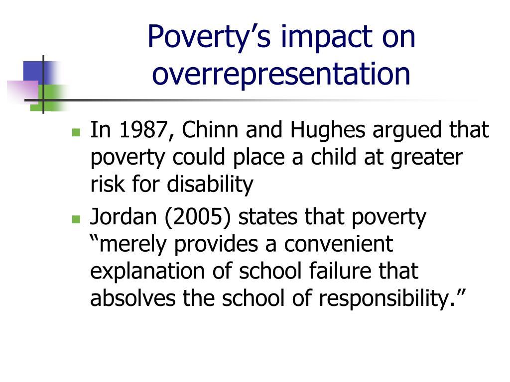 Poverty's impact on overrepresentation