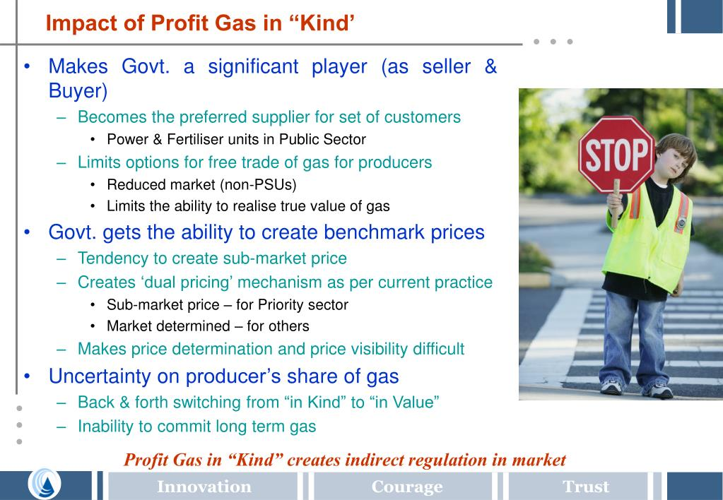 "Impact of Profit Gas in ""Kind'"