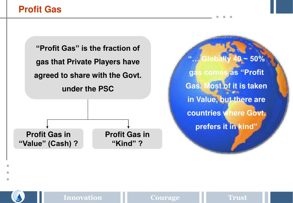 """… Globally 40 ~ 50% gas comes as ""Profit Gas. Most of it is taken in Value, but there are countries where Govt. prefers it in kind"""