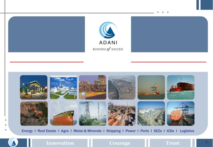 Energy  I  Real Estate  I  Agro  I  Metal & Minerals  I  Shipping  I  Power  I  Ports  I  SEZs  I  I...