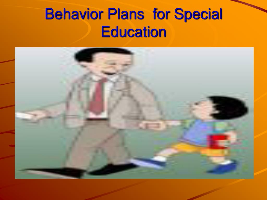 Behavior Plans  for Special Education