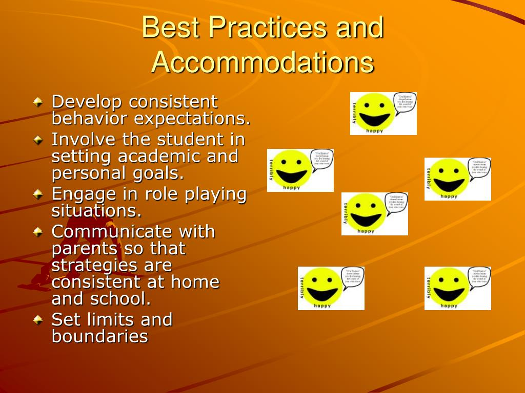 Best Practices and Accommodations