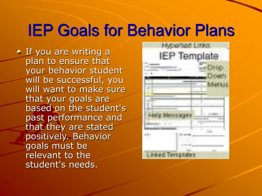 IEP Goals for Behavior Plans