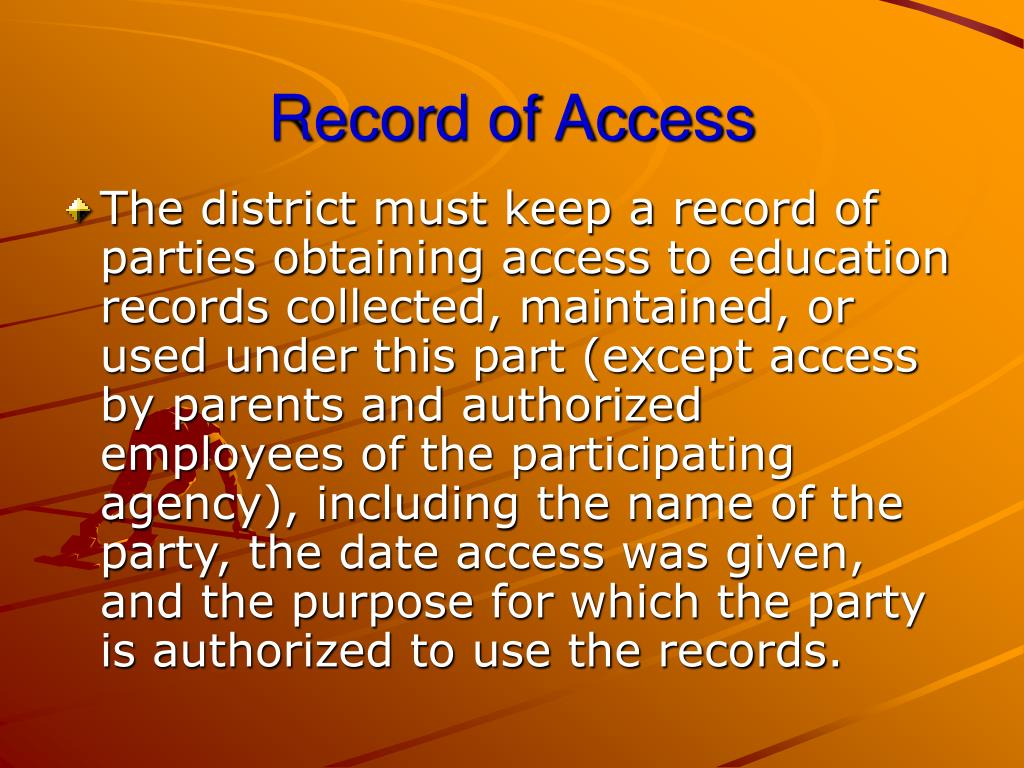 Record of Access