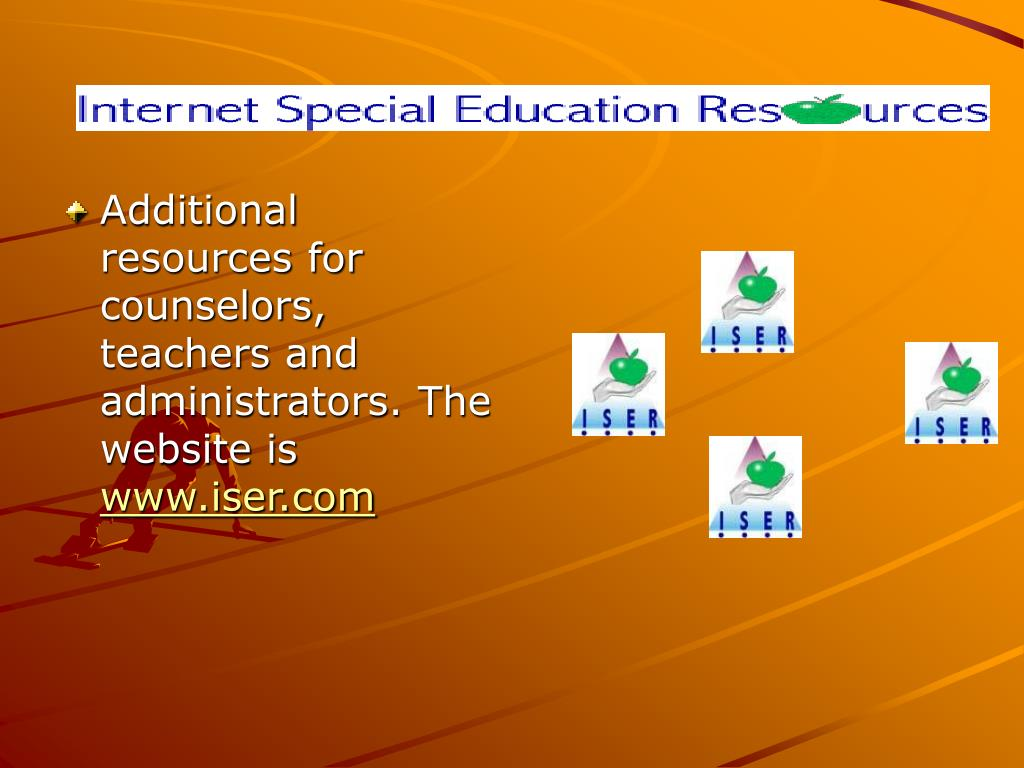 Additional resources for counselors, teachers and administrators. The website is