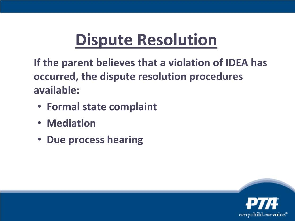 Dispute Resolution