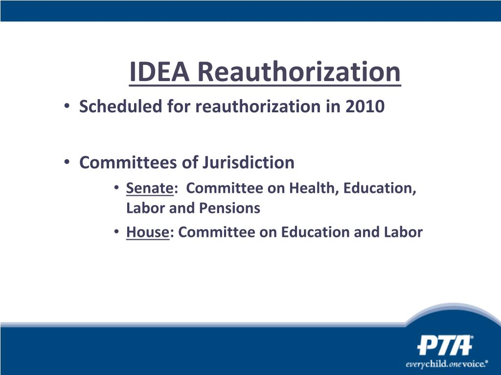IDEA Reauthorization