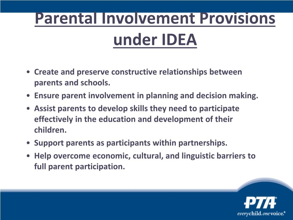 Parental Involvement Provisions under IDEA