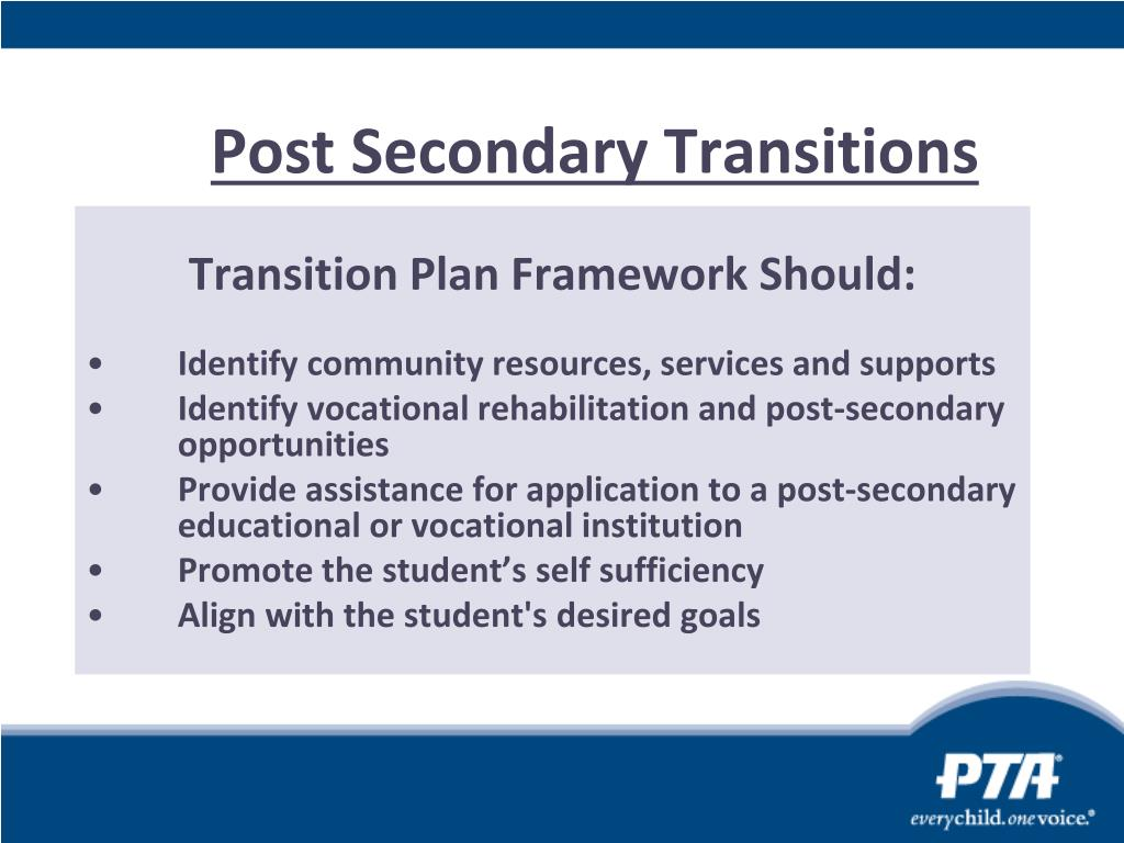 Post Secondary Transitions