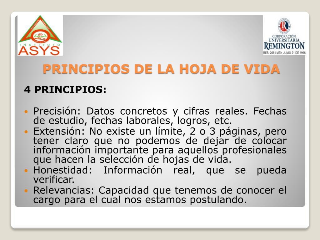 4 PRINCIPIOS: