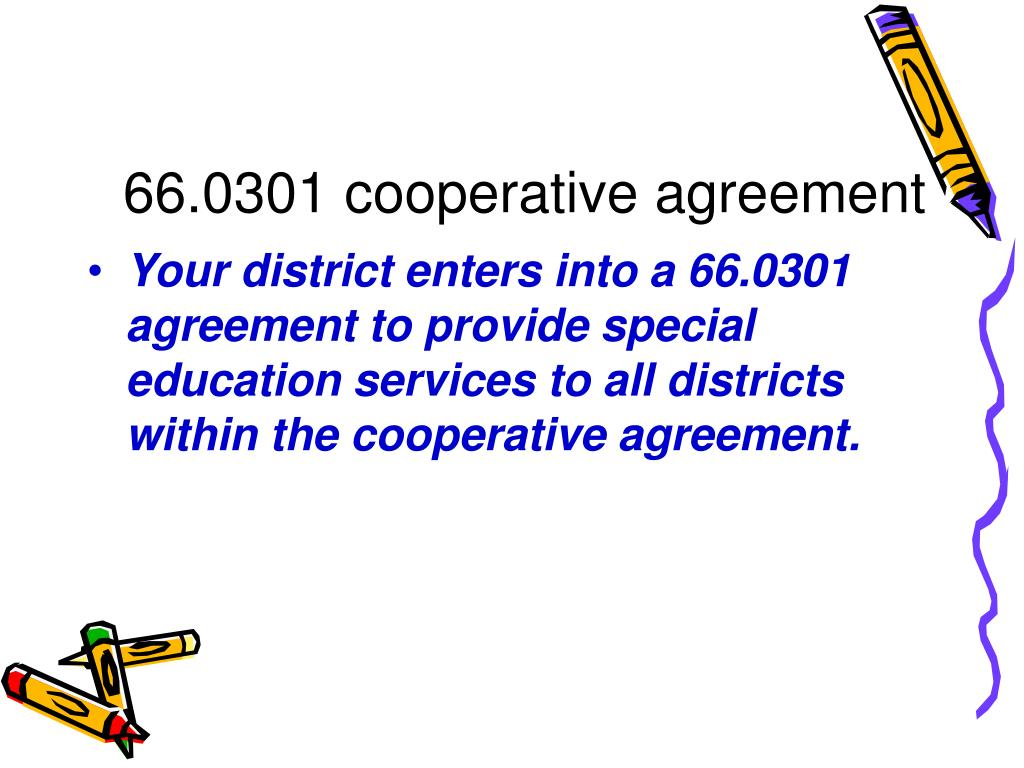 66.0301 cooperative agreement