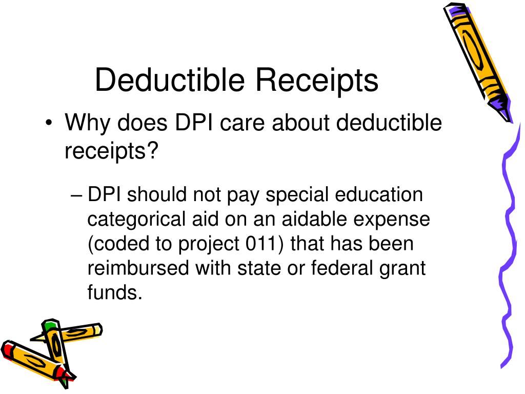 Deductible Receipts