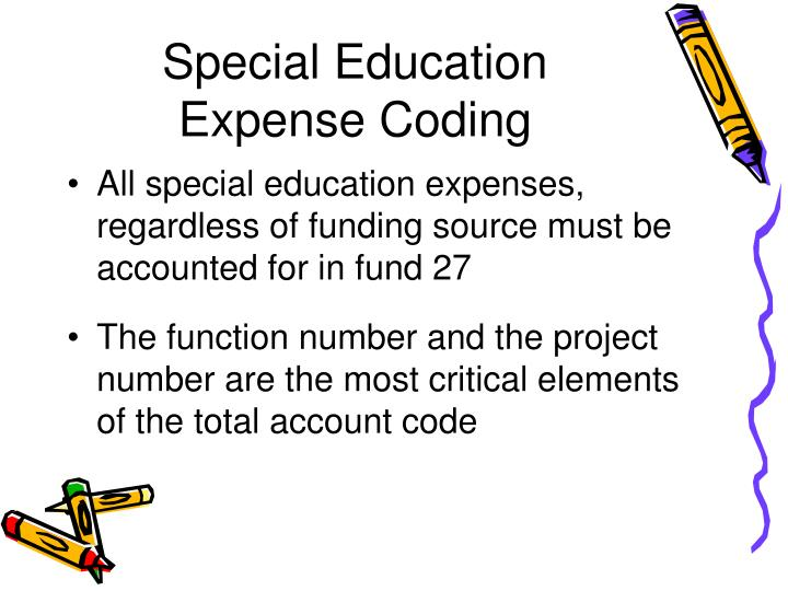Special education expense coding
