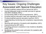 key issues ongoing challenges associated with special education