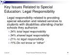 key issues related to special education legal responsibility