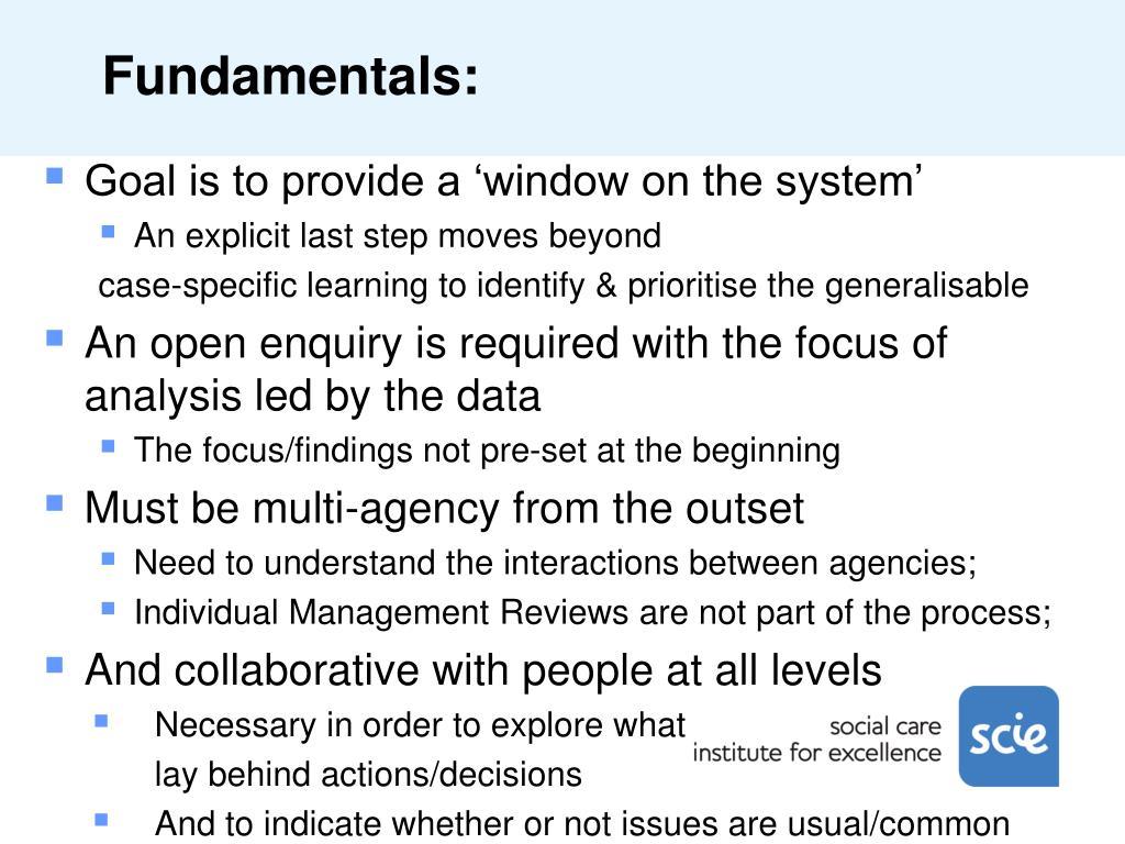Fundamentals: