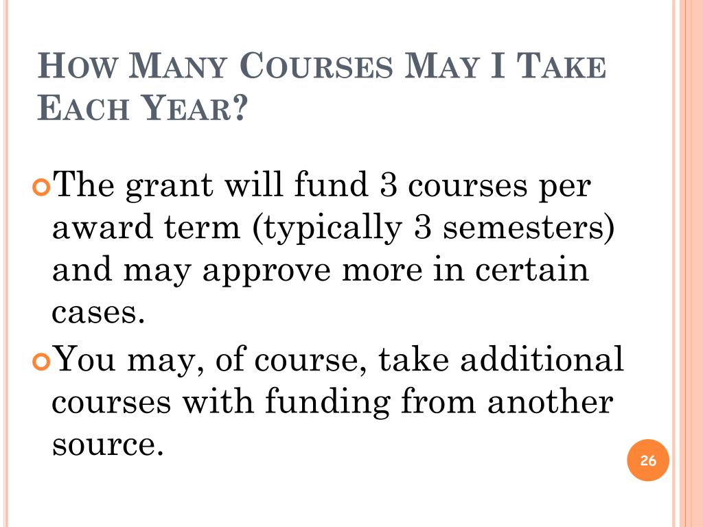 How Many Courses May I Take Each Year?