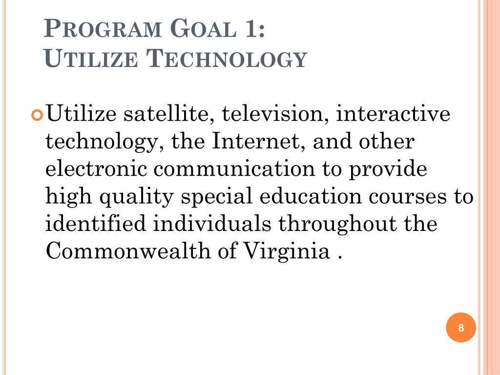 Program Goal 1: