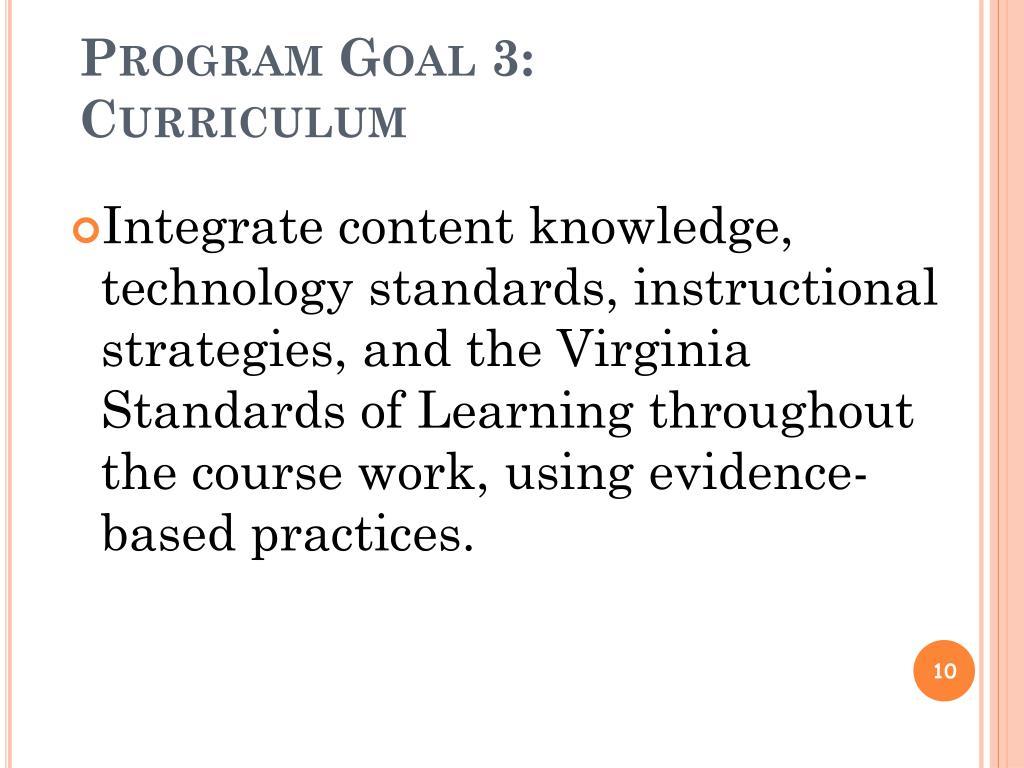 Program Goal 3: