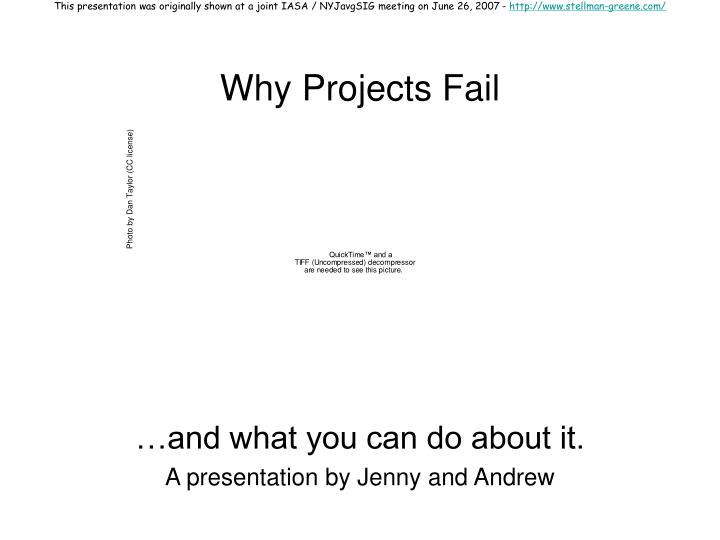 Why projects fail l.jpg