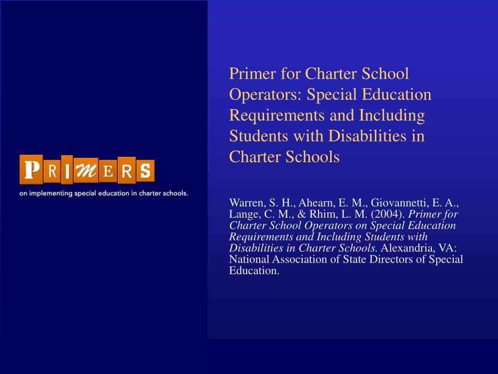 Primer for Charter School