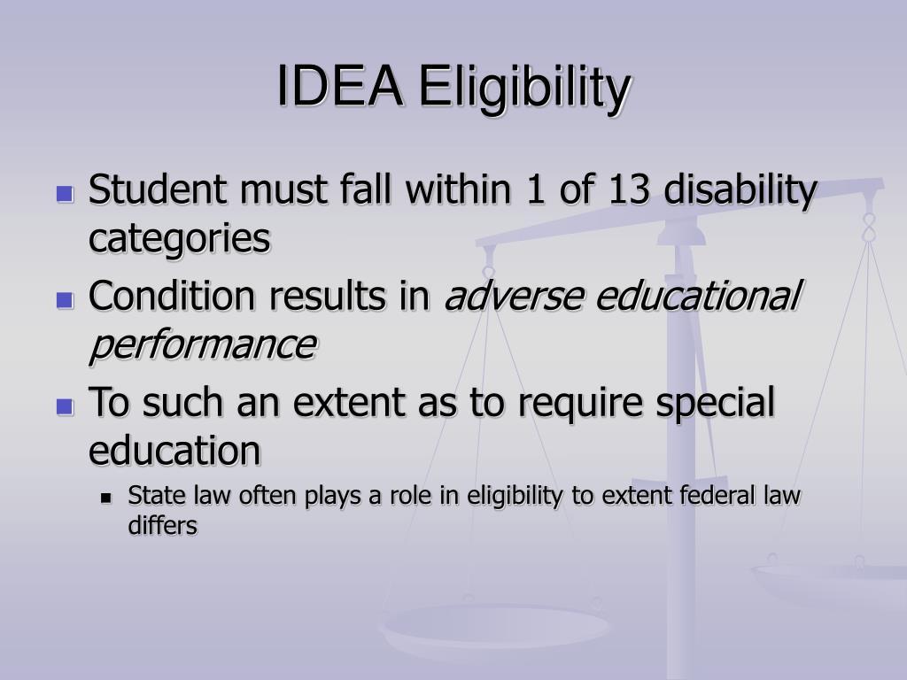 IDEA Eligibility