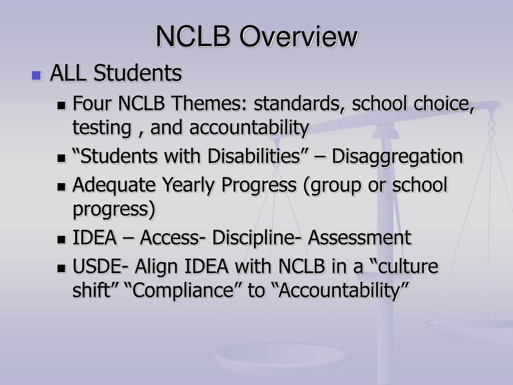 NCLB Overview