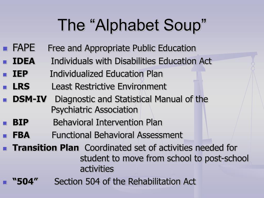 """The """"Alphabet Soup"""""""