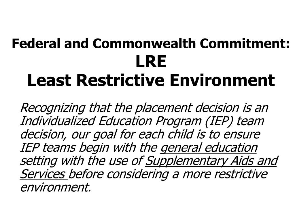 Federal and Commonwealth Commitment:
