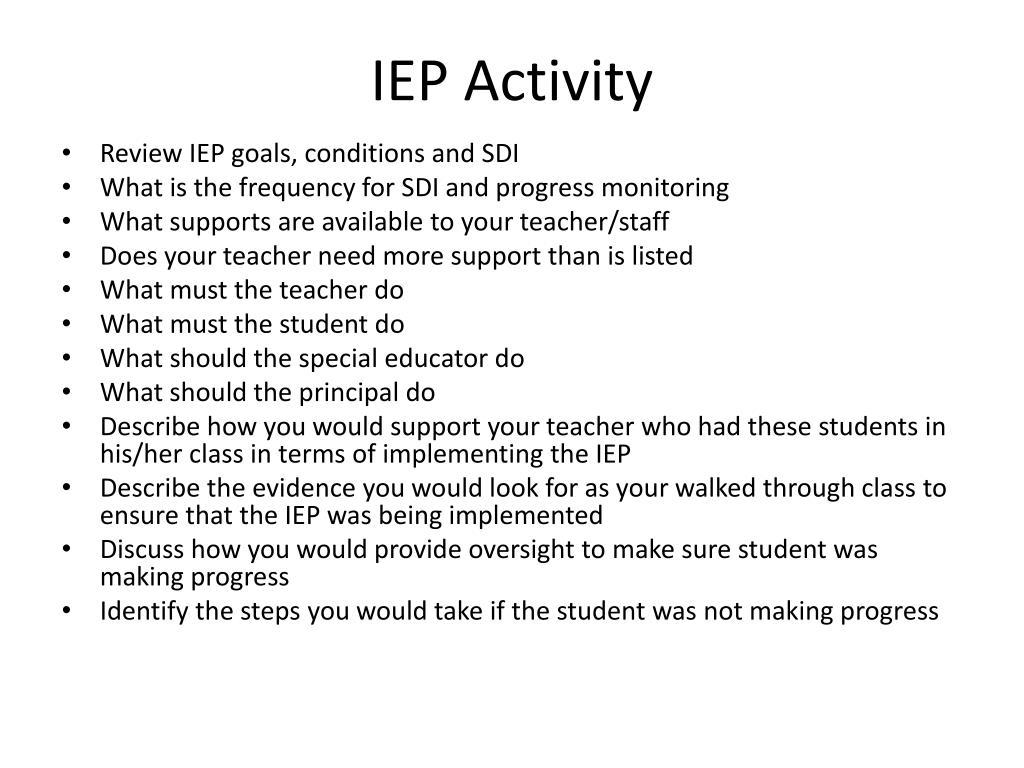 IEP Activity