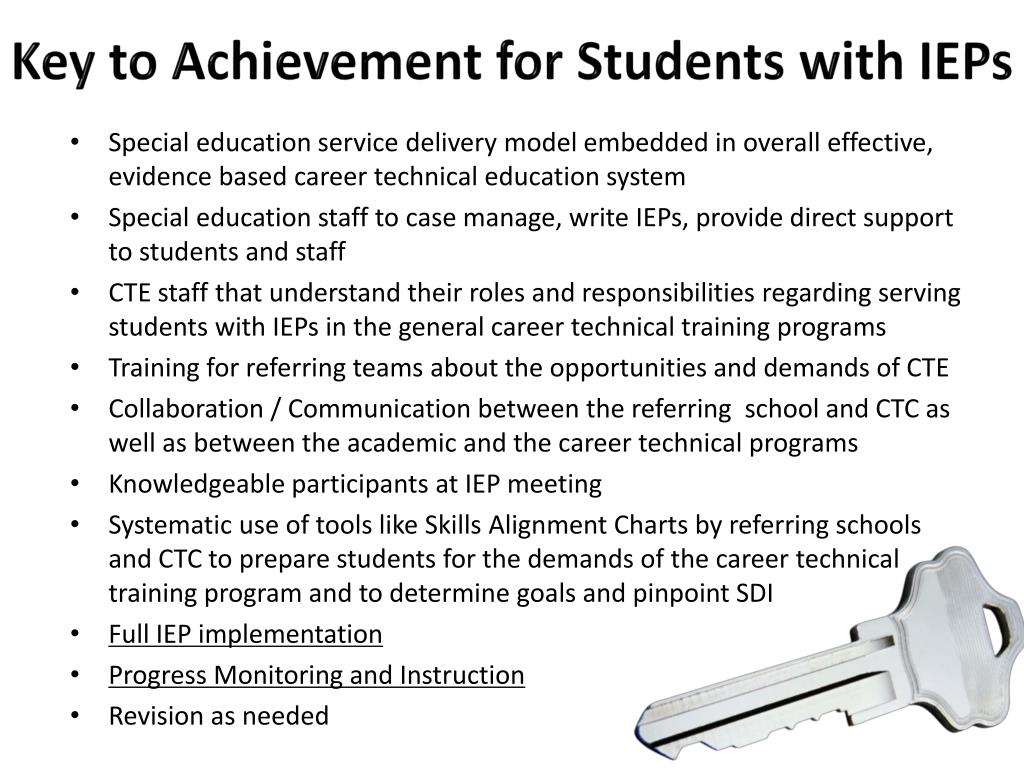 Key to Achievement for Students with IEPs