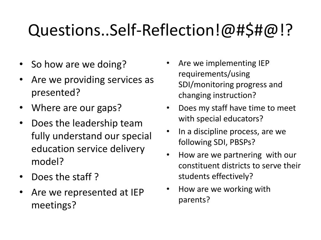 Questions..Self-Reflection!@#$#@!?