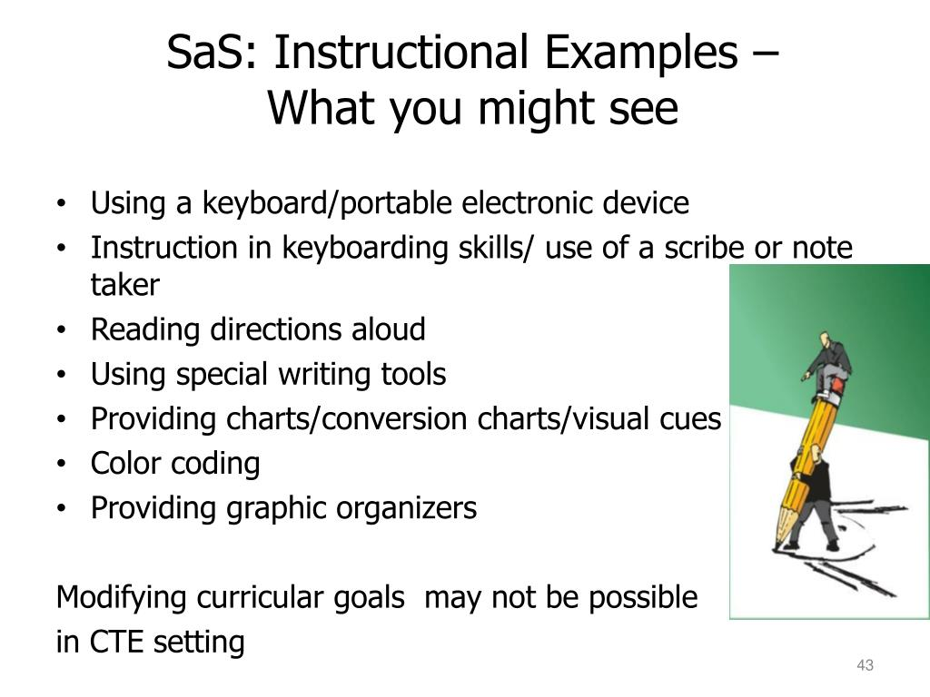 SaS: Instructional Examples –