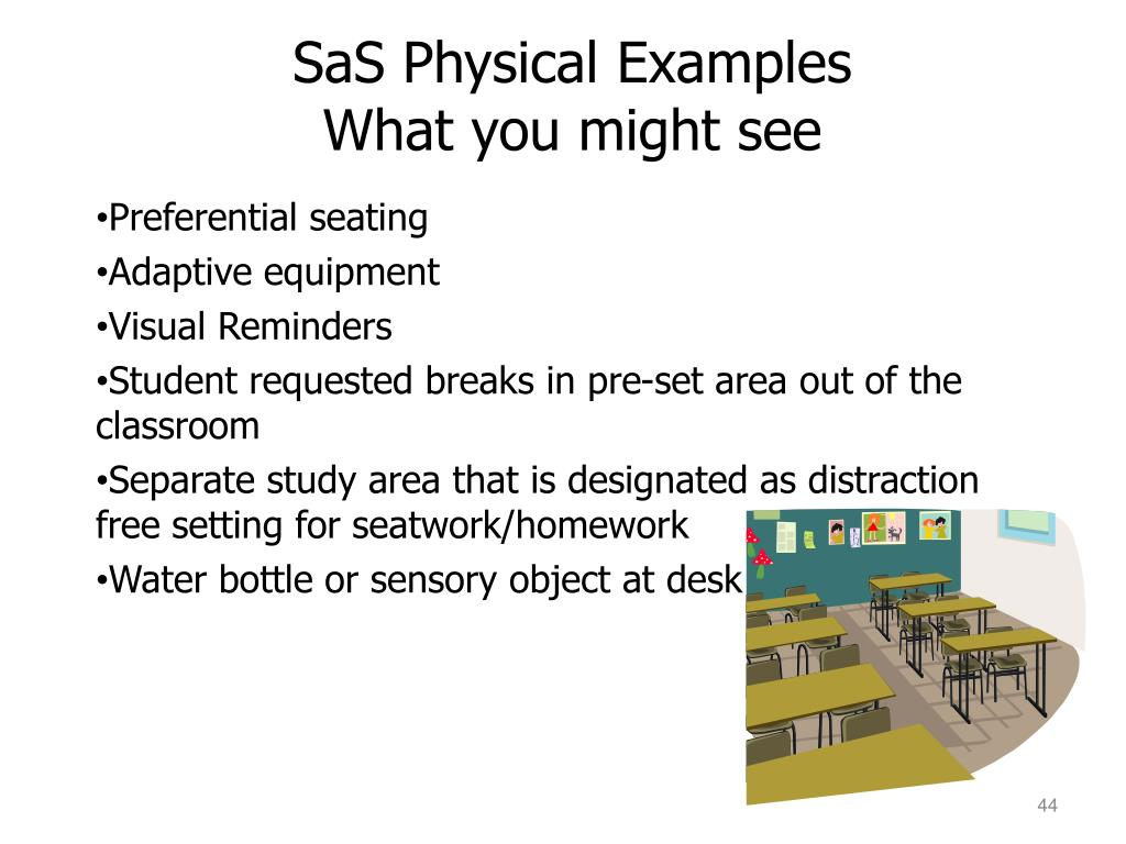 SaS Physical Examples