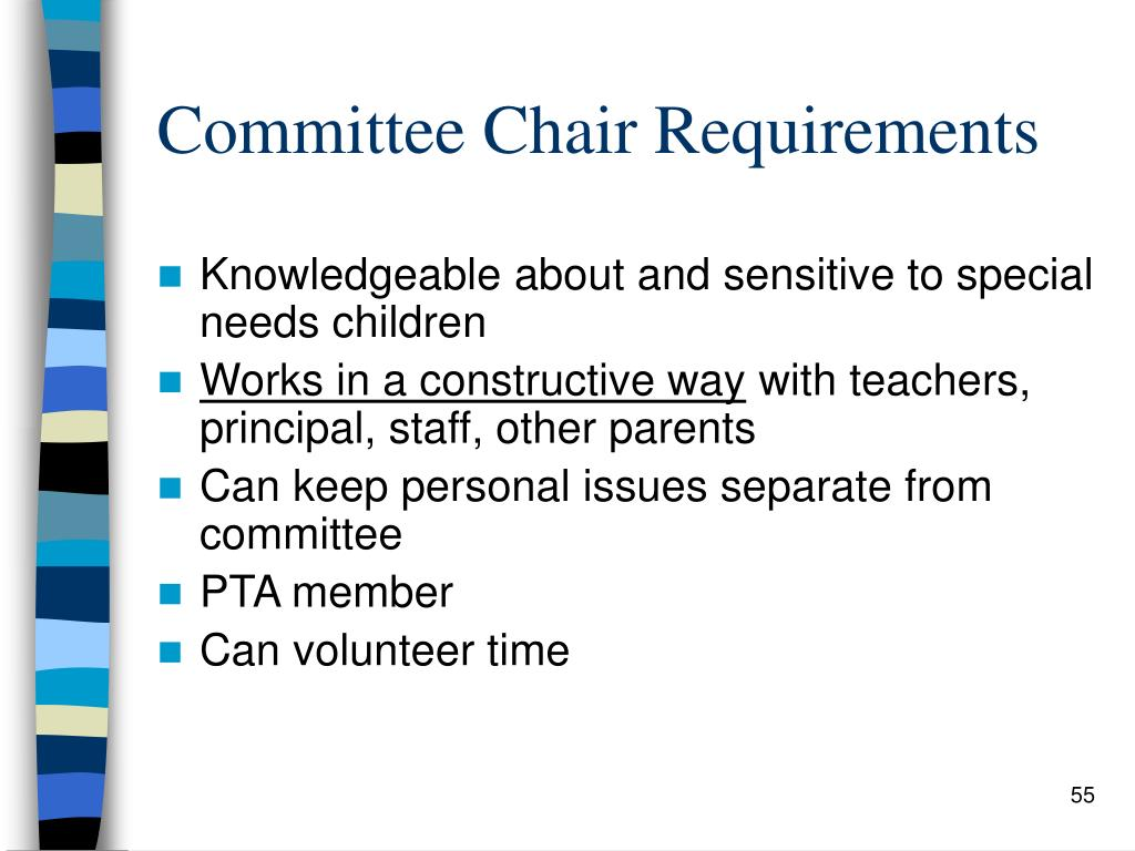 Committee Chair Requirements