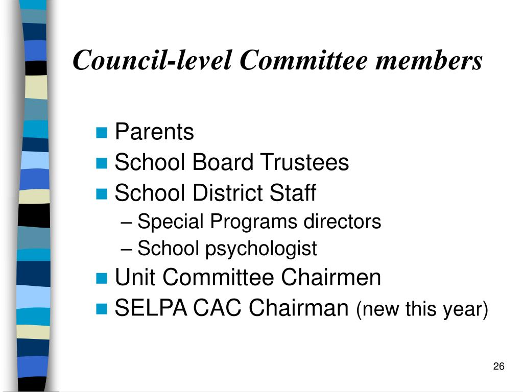 Council-level Committee members
