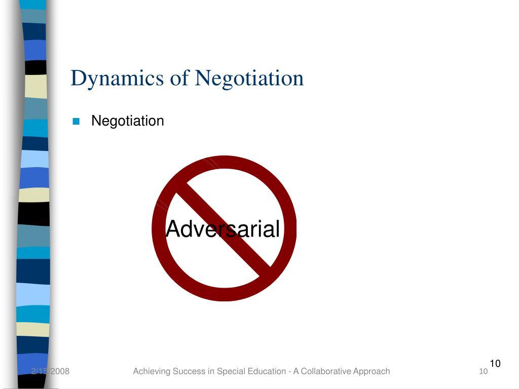 Dynamics of Negotiation