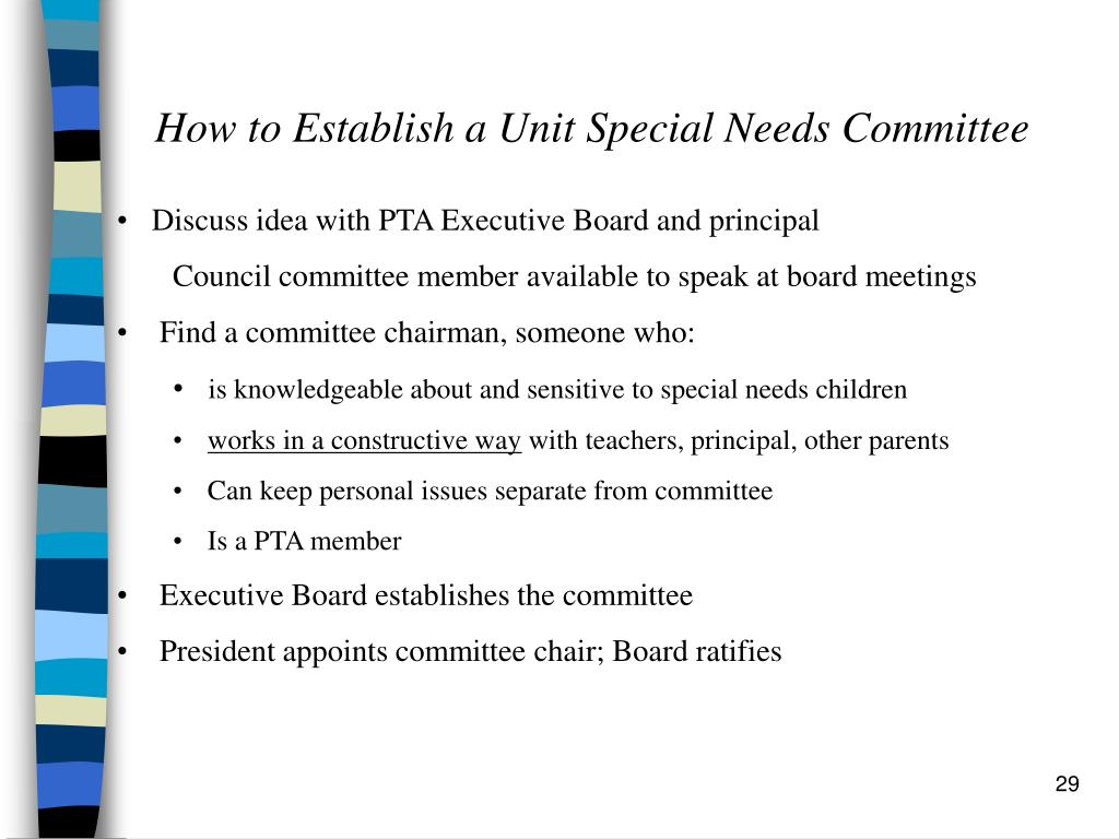 How to Establish a Unit Special Needs Committee