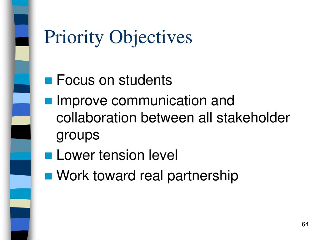 Priority Objectives