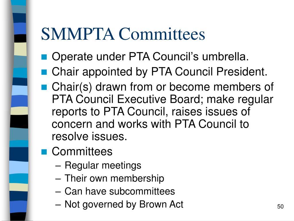 SMMPTA Committees