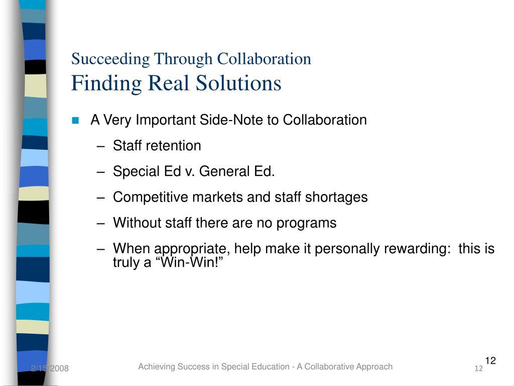 Succeeding Through Collaboration