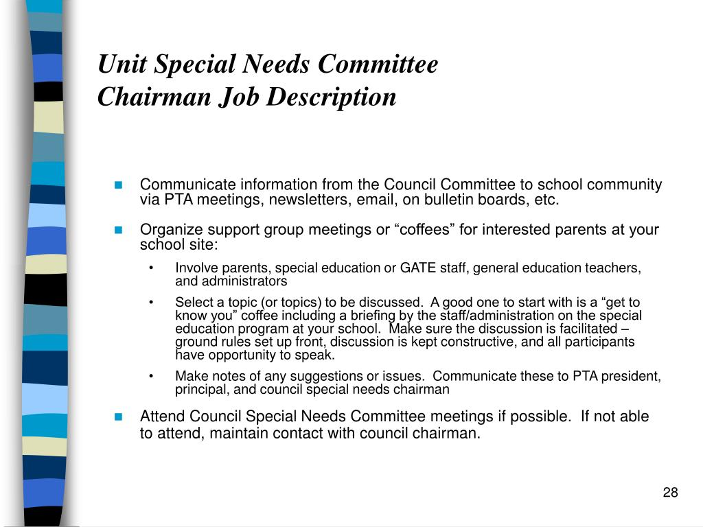 Unit Special Needs Committee