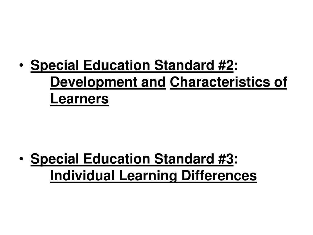 Special Education Standard #2